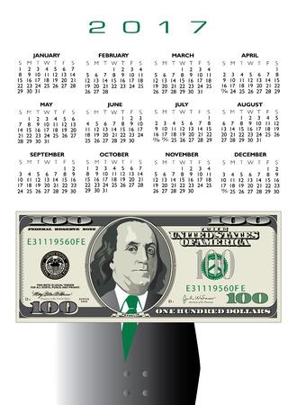 2017 whimsical money calendar