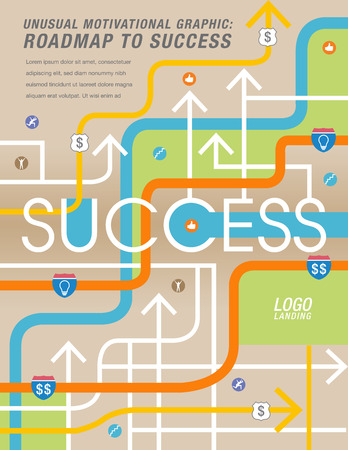 path to wealth: The road to success is mapped out Illustration