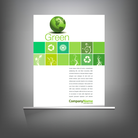 Green environmental page template