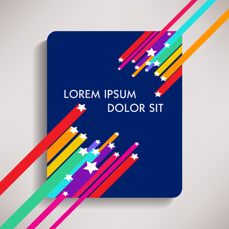 Colorful background template with multiple uses