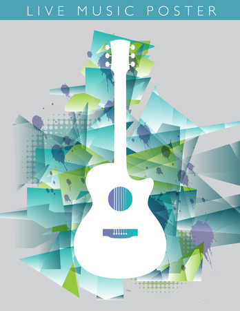 Music background with an acoustic guitar