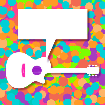 Music background with a generic acoustic guitar on grunge