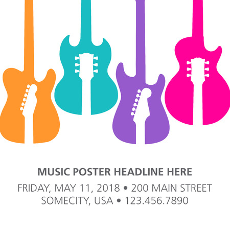 Music Concert Poster Layout Template Ilustrace
