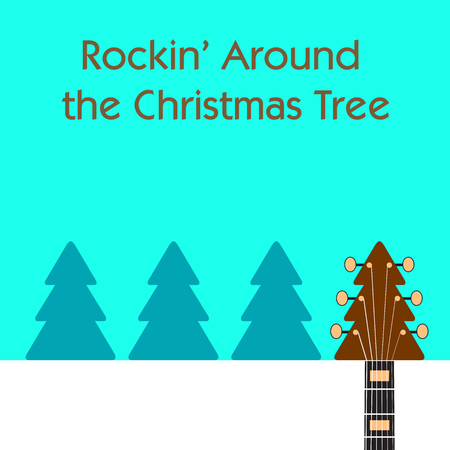 Rockin' around the Christmas tree guitar background.