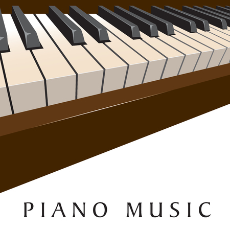 Piano music background with a dramatic keyboard