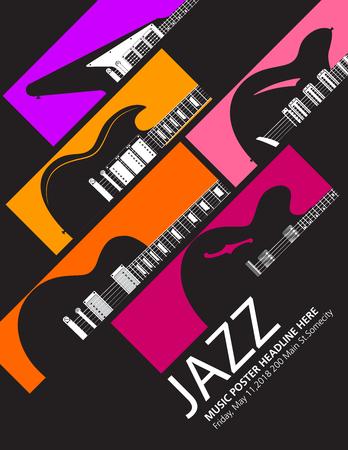 Jazz musique modèle de musique de fond Banque d'images - 97500991