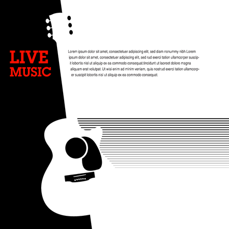 An abstract guitar musical template