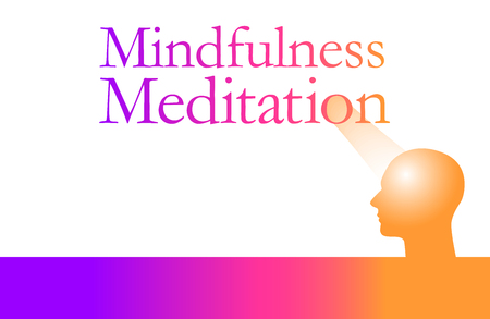 Mindfulness meditation is the theme of this graphic.