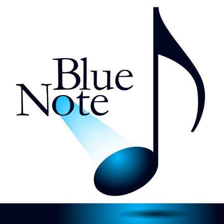 The blue note is the theme of this musical graphic.