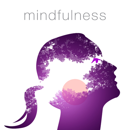 Profile of a woman mindfulness