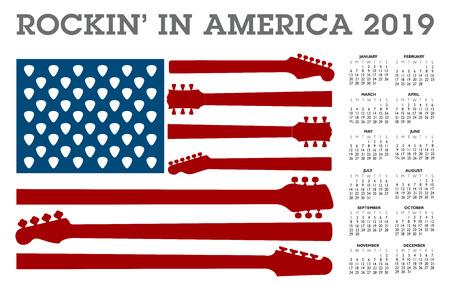 Rocking in America calendar