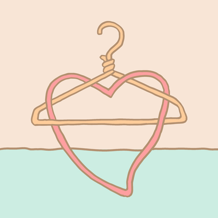 A funky coat hanger and heart