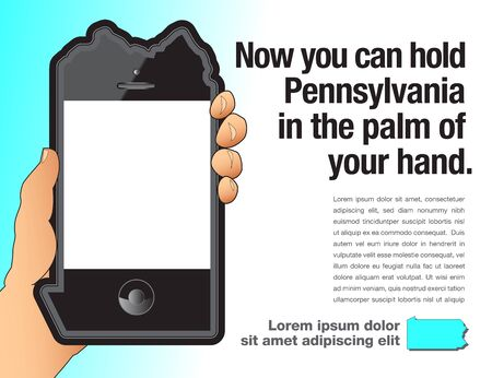 A phone that is shaped like Pennsylvania