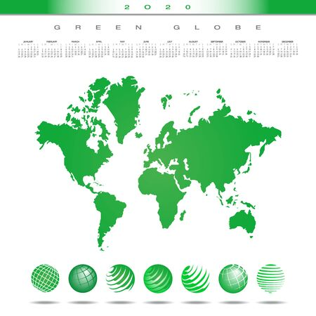 Green planet is the theme of this  graphic. Vettoriali