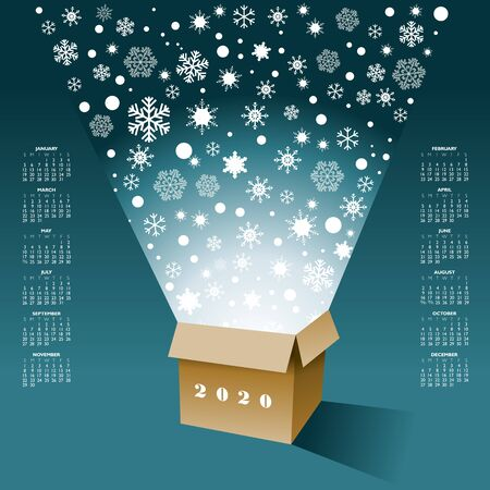 Christmas magic springs with brilliant radiant sparkle from a box