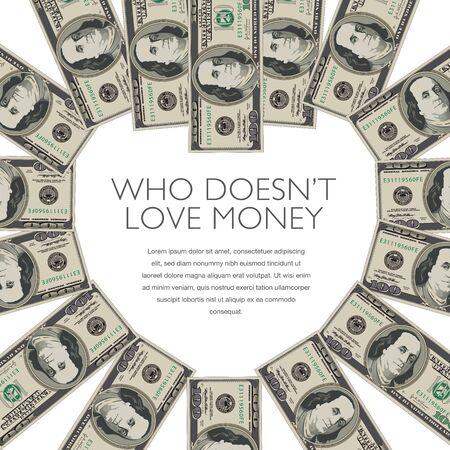 100 dollar bills form a heart