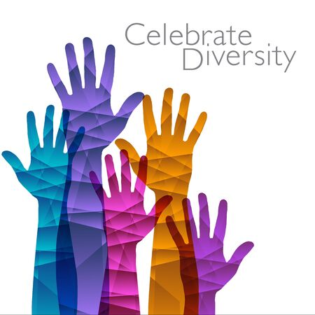 Celebrate Diversity is the theme of this graphic with space for text.