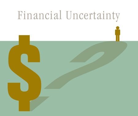 Financial uncertainty  looms large in this unique financial graphic