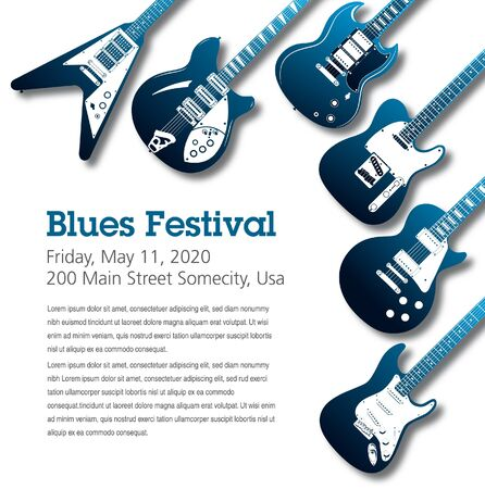 Blues themed music poster background