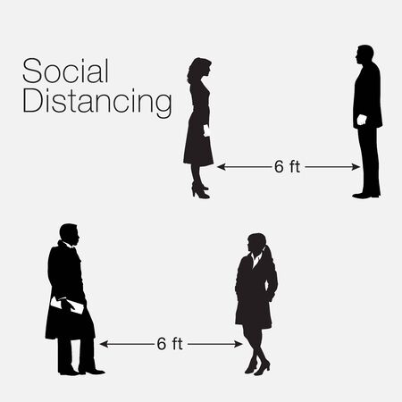 A social distancing graphic