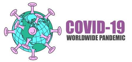 A graphic representation of COVID-19 a worldwide pandemic.