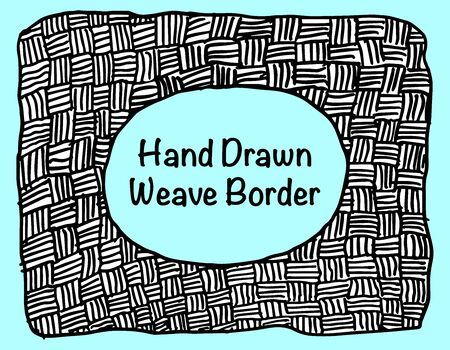 A grungy hand drawn weave pattern background