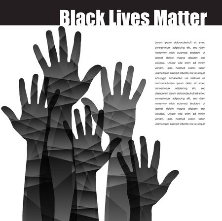 Black Lives Matter stirring graphic with hands reaching out.