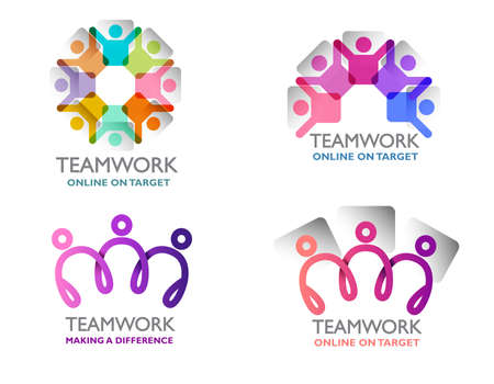 Teamwork logo in 4 variants. Mix and match to make your own version.