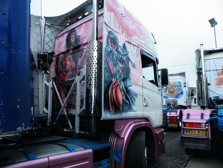 Airbrushed artwork on a truck