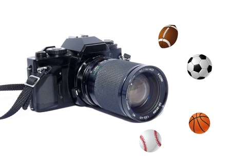 A camera and sports equipment photo
