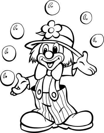 Klaun cyrkowy Ilustracje wektorowe