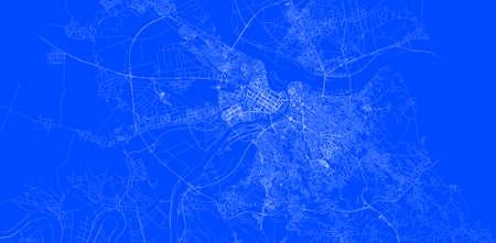 Blueprint of Belgrade city of Serbia, One Color Map, color change, Artprint Reklamní fotografie