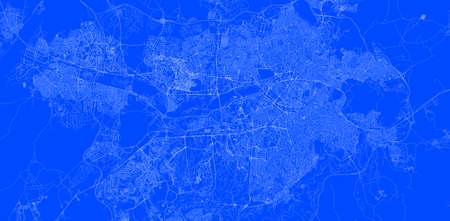 Blueprint of ankara city of Turkey, One Color Map, color change, Artprint