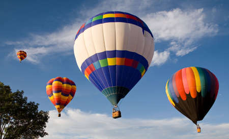Hot air balloons ascending at Colorado Springs Balloon Classic  Stock Photo - 7498556
