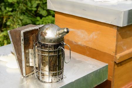 Beekeepers smoker Stock Photo