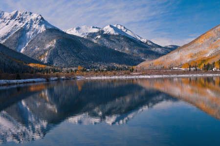This single exposure image was taken at Crystal Lake on Red Mountain Pass between Ouray and Silverton, Colorado. photo