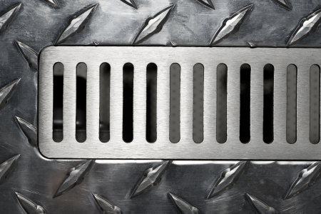 vent: The surface of the metal air vent