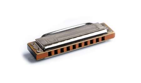 compacted: Harmonica isolated on white background Stock Photo