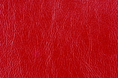 Red glossy faux leather texture photo