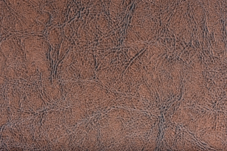 leatherette: Dark salmon synthetic leather with embossed