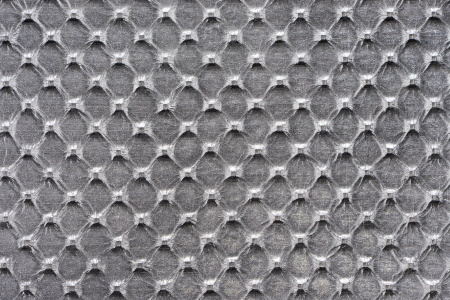 Silver synthetic leather with embossed texture photo