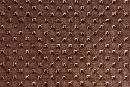 Saddle brown synthetic leather with embossed photo