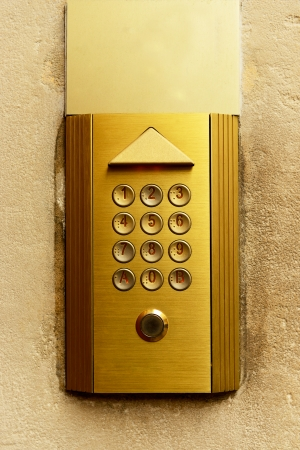 Close-up of intercom photo