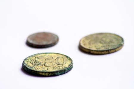 valuta: Old euro coins Stock Photo