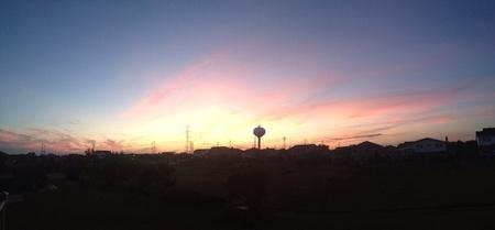 A beautiful peaceful summer night sunset.