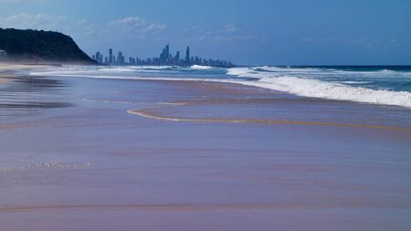 Surfers paradise. City View From A Beach, Gold Coast Queensland Australia. 写真素材