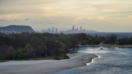Surfers paradise. City View, Sunset, Gold Coast Queensland Australia.