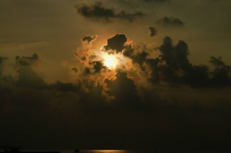 Beautiful Sunset Near Maafushi Island Maldives