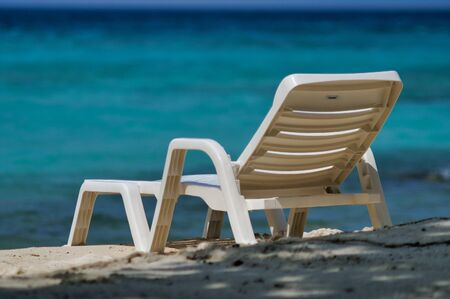 Beach Chair On Maafushi Island Maldives