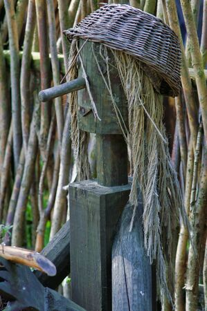 Rural art, Polish village, wooden figure, Europe